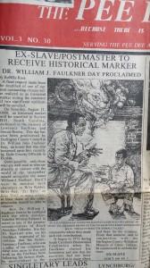 Pee Dee Times re Historical Marker Rev Faulkner 2