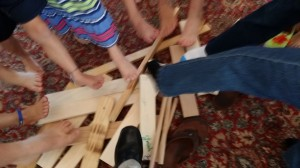 WOOD Makes FEET and Wood pile_Music Week 2014