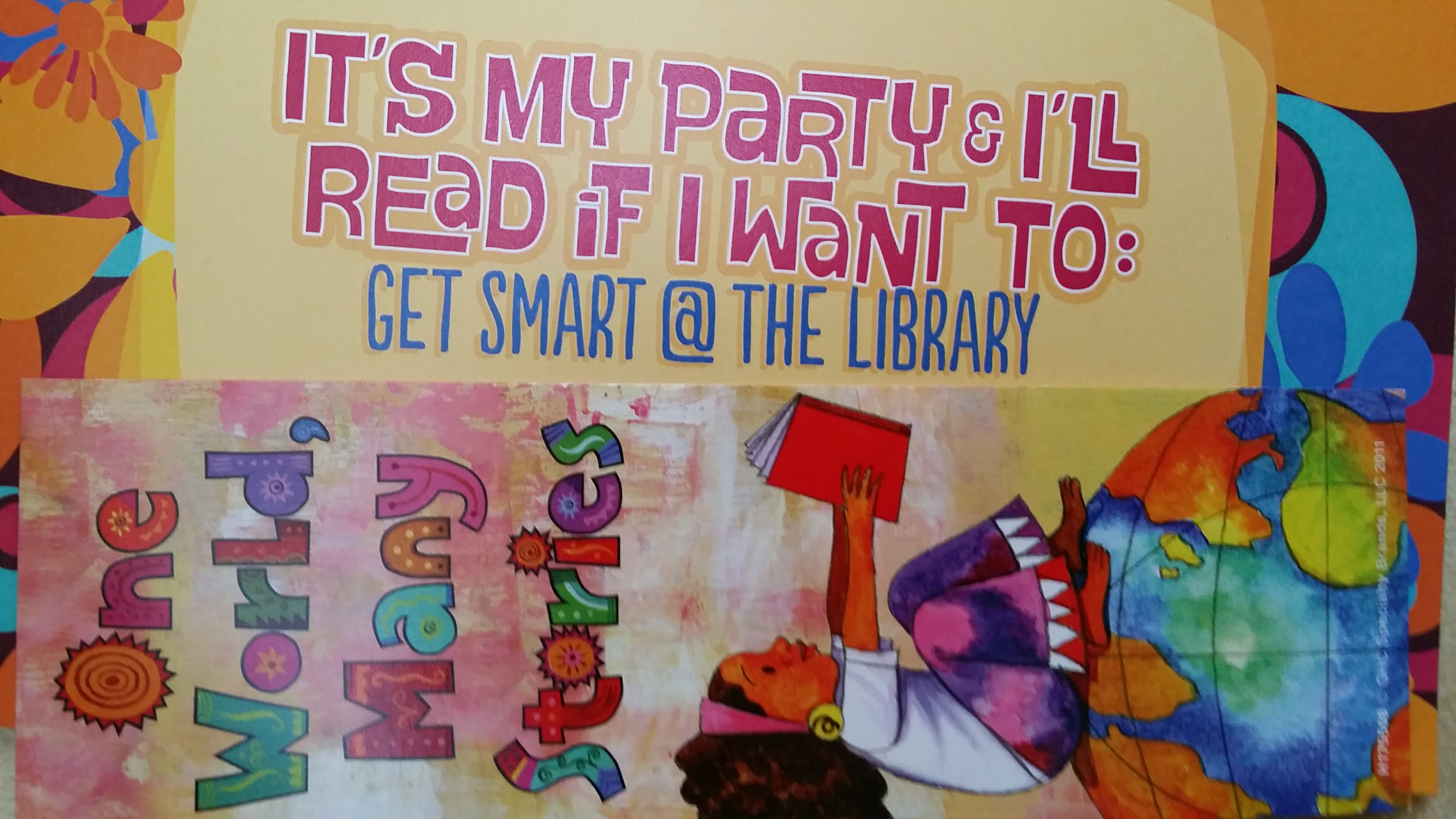 I Geek Live Oak Public Libraries' Message Book Marks