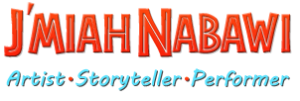 "Meet J'miah Nabawi, the award-winning ""action storyteller!""  logo"