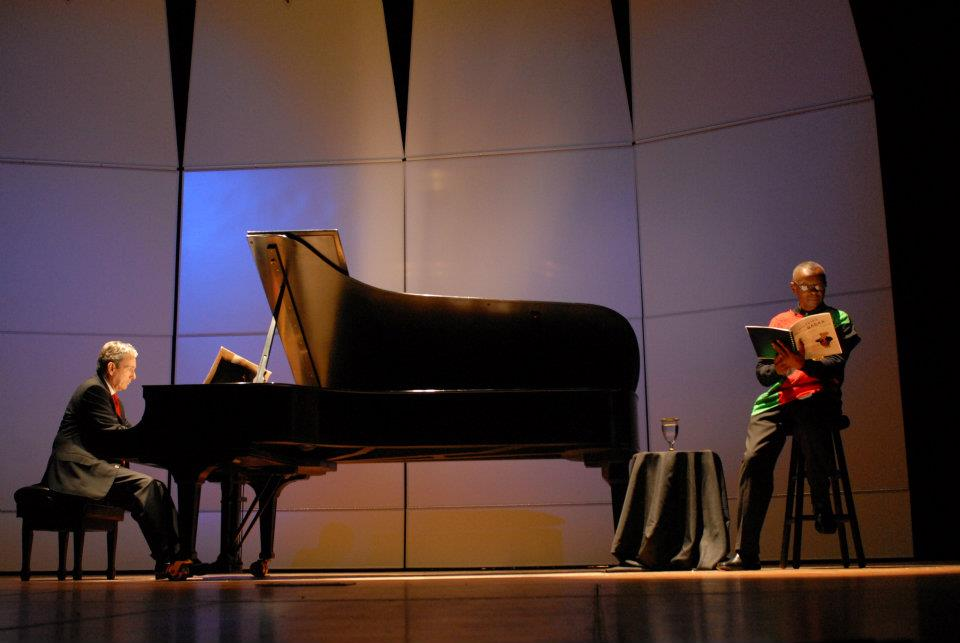 J'miah Nabawi in rehearsal with concert pianist William DeVan for Savannah Music Festival's Parade of Animals concert